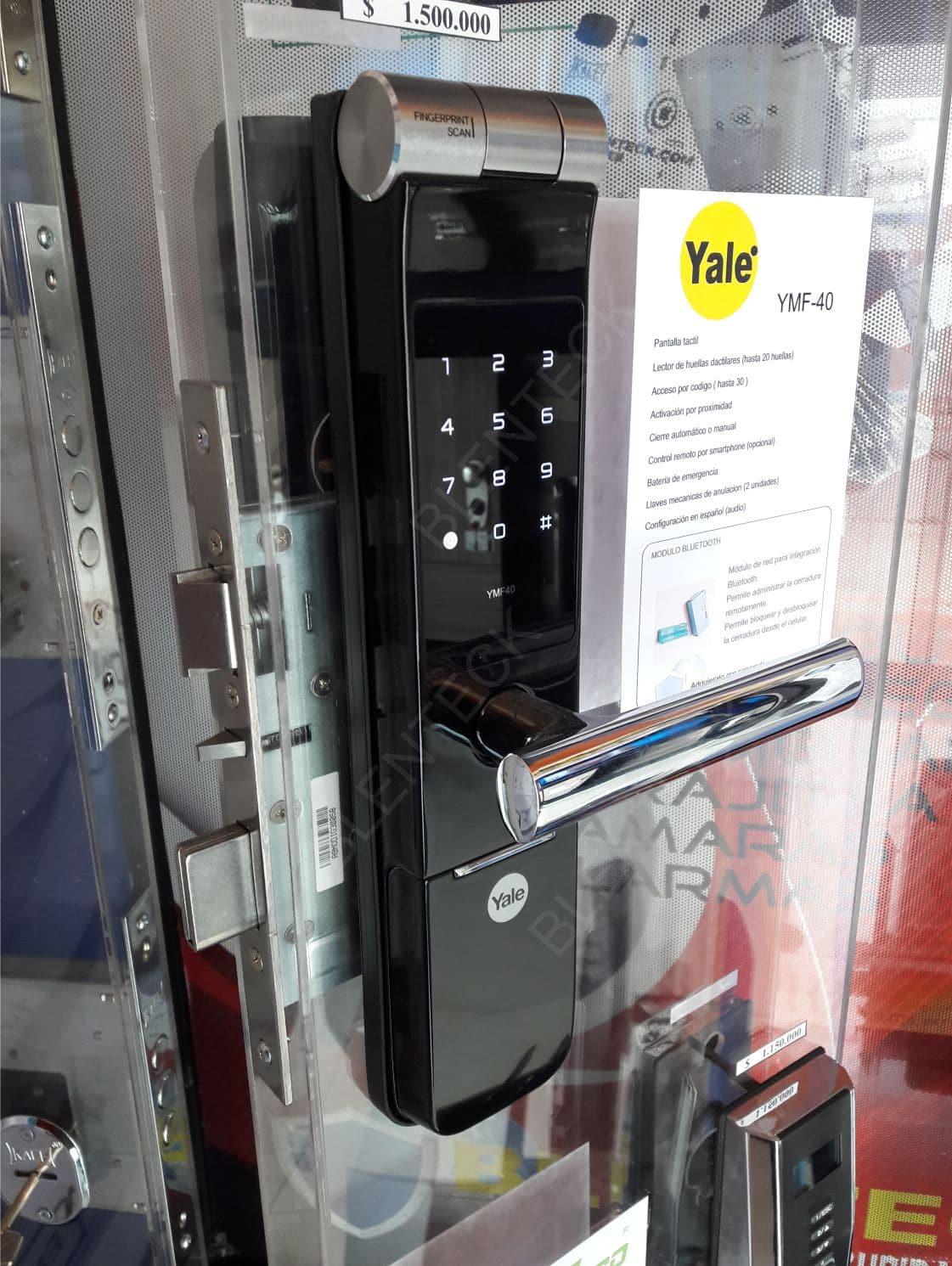 cerradura de seguridad biometrica yale