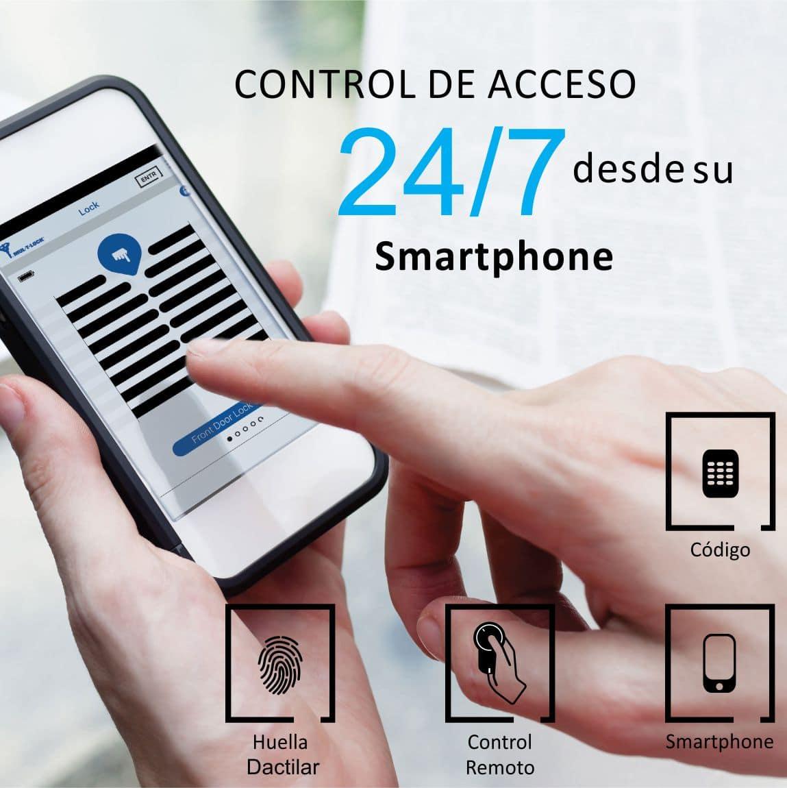 puertas de seguridad apertura con celular